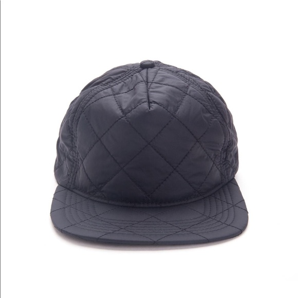 4065408ccba Stampd quilted nylon bomber hat in black